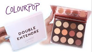 Colourpop Double Entendre Eyeshadow Palette | SWATCHES