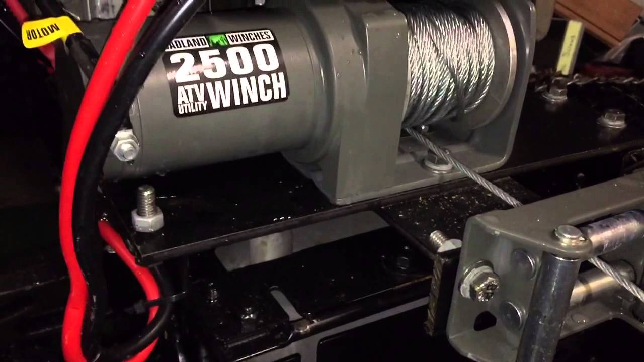 Winch Mount For Gt6000 Garden Tractor Youtube