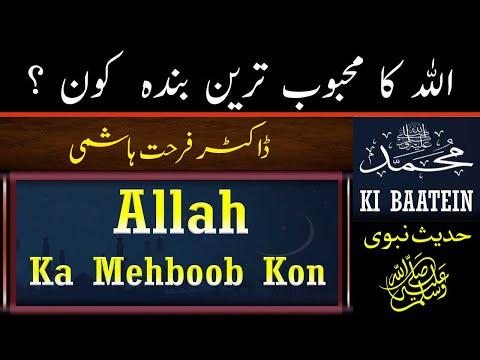Allah Ka Mehboob Kon    Dr Farhat Hashmi