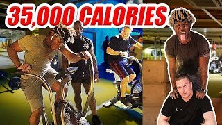 TRAINING WITH KSI ( 35K CALORIE CHALLENGE PART 3 )