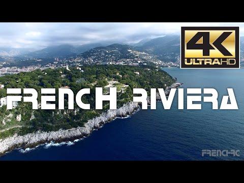 French Riviera - Côte d'Azur France Drone 4K