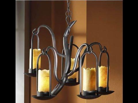 Decoracion rustica : artesania en lamparas de forja   youtube