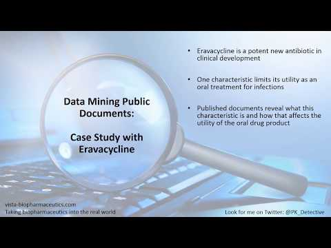 Data Mining Public Documents   Case Study With Eravacycline