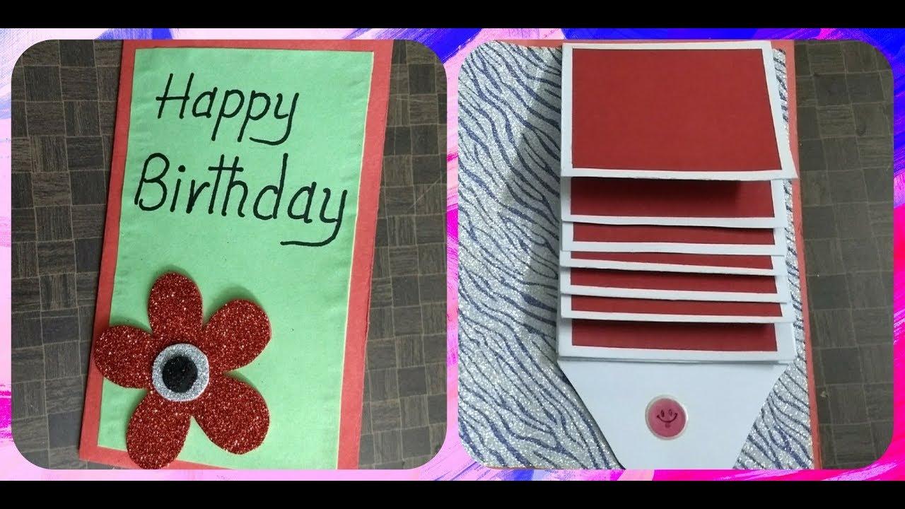 Handmade WATERFALL CARD for Birthday  complete tutorial
