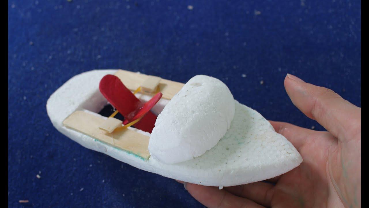 Wie man ein sehr einfaches Boot machen   Elastic angetriebene Boot ...