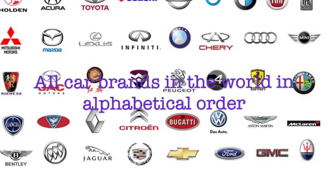 All Car Brands >> All Car Brands In The World In Alphabetical Order Youtube