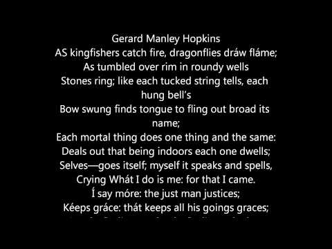 As Kingfishers Catch Fire, Dragonflies Draw Flame Gerard Manley Hopkins - Poem