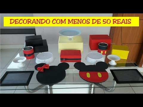 FESTA MICKEY E MINNIE - DECORANDO COM MENOS DE 50 REAIS || TAISA ALVES