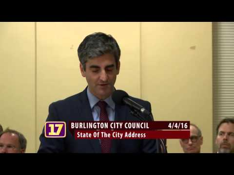 Burlington State of the City Address Miro Weinberger  04 04 2016