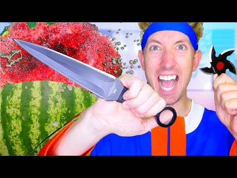 5 Naruto Weapons vs Fruit Ninja
