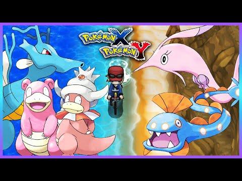 Pokemon X & Y - How To Get Slowbro,Slowking,Kingdra,Gorebyss & Huntail