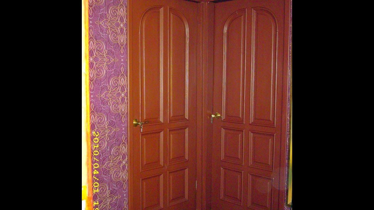 Покраска деревянных дверей - YouTube