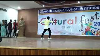 Uppenantha ee prema ki song... dance performance by Raja ||Aarya - 2  movie song in Audisankara fest