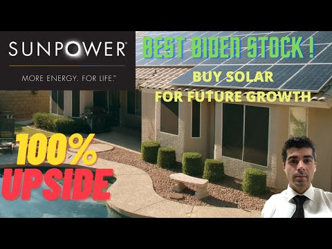 SUNPOWER SPWR Best Growth Stock for Renewable Energy Huge Upside with Biden pushing for Solar