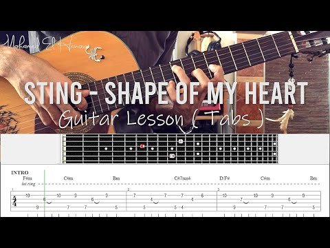 Sting - Shape Of My Heart Guitar Lesson Tab