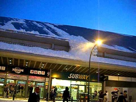 Avalanche falls off Xscape roof Milton Keynes
