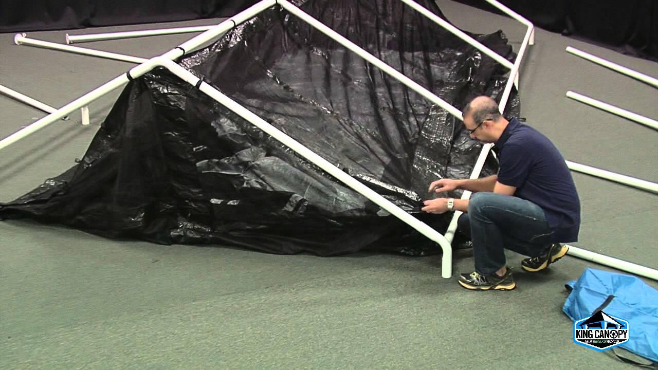 & 10u0027x20u0027 Canopy Bug Screen Room Accessory Set Up - YouTube