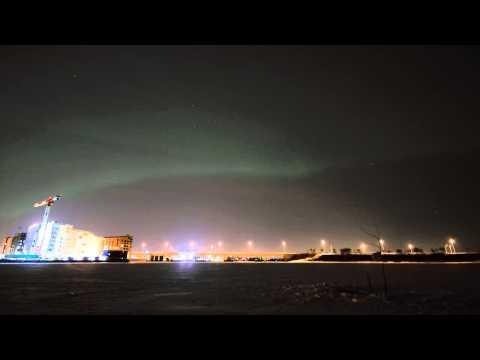 Northern lights time lapse, Helsinki