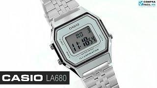 Reloj Casio Retro LA680 Plata - www.CompraFacil.mx