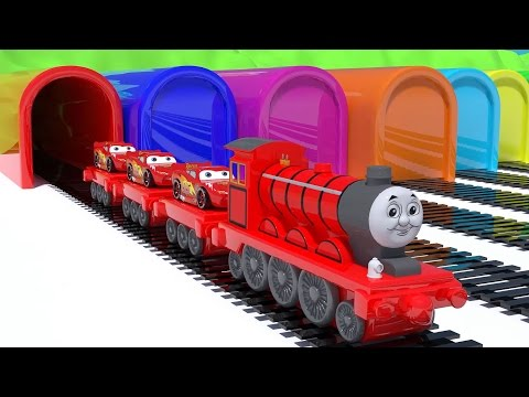 Thumbnail: Baby Learn Colors with Thomas Train Mcqueen cars Educational Video Cars Toys for Kids Nursery Rhymes