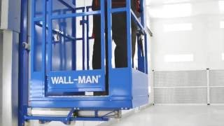 Wall-Man - a pneumatic man lift from Reglo for spray booth or preparation booth