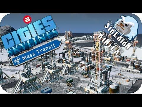 Cities Skylines Gameplay: OIL & TRAINS! Cities Skylines MASS TRANSIT DLC SIBERIAN SCENARIO #2