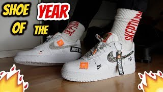 SHOE OF THE YEAR!! Nike Air Force 1 '07 Premium ''Just Do It'' REVIEW