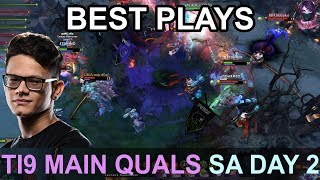 TI9 BEST PLAYS Main Quals SA DAY 2 Highlights Dota 2 by Time 2 Dota #dota2 #ti9
