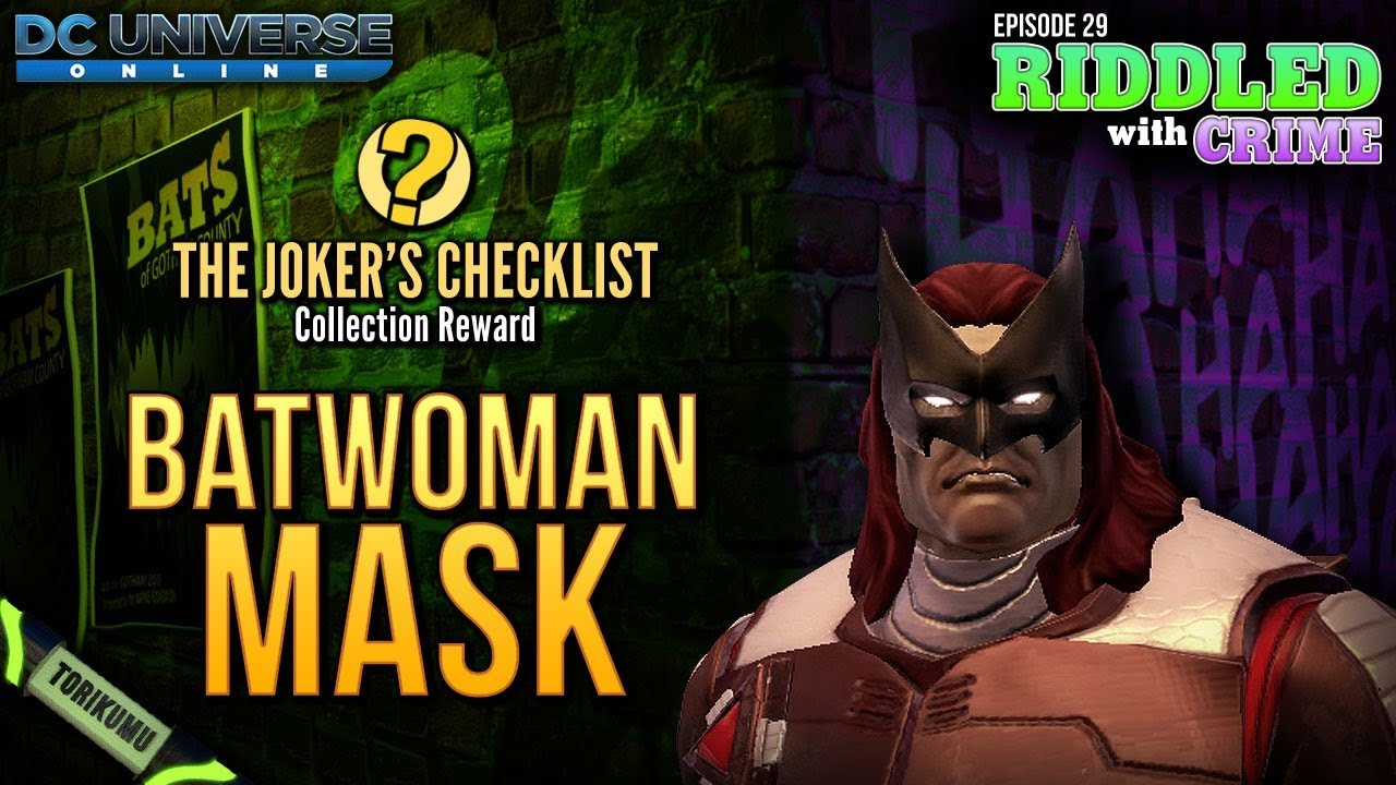 Joker images collection 46 - Dcuo Episode 29 Batwoman Mask Style The Joker S Checklist Collection Reward