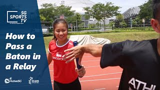 #Athletics101: Passing baton for beginners in a Track and Field Relay [Athletics for Beginners]