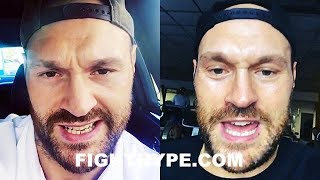 TYSON FURY THREATENS DEONTAY WILDER FOR TALKING ABOUT MIKE TYSON; CHALLENGES