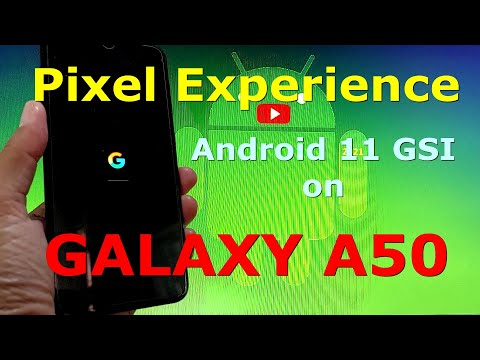 Pixel Experience Android 11 for Samsung Galaxy A50 GSI