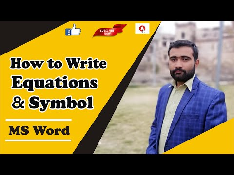 How to use equation & symbol in MS Word