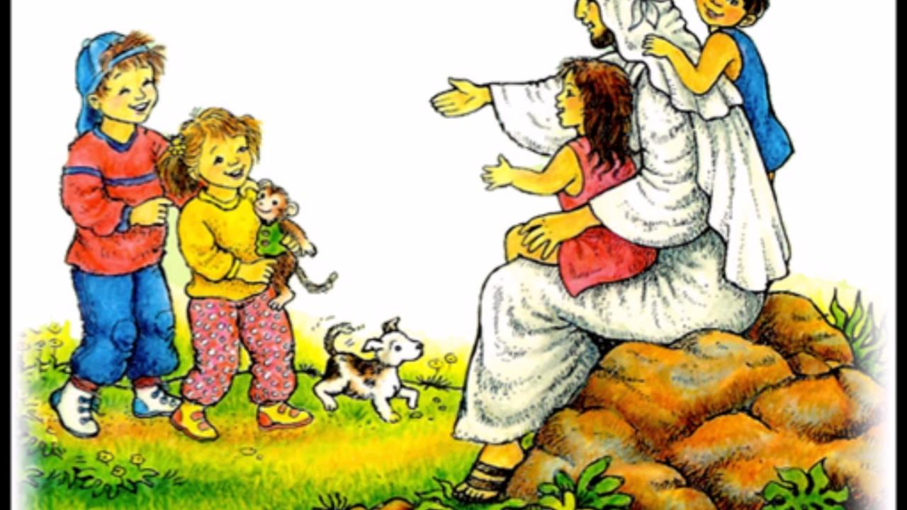 jezus houdt alle kinderen