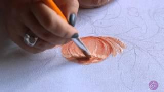 Pintura em tecido Eliane Nascimento: Crisântemo
