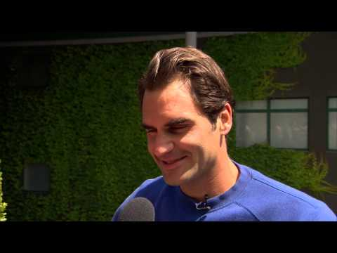 Roger Federer  interviews for the job of Wimbledon Champion