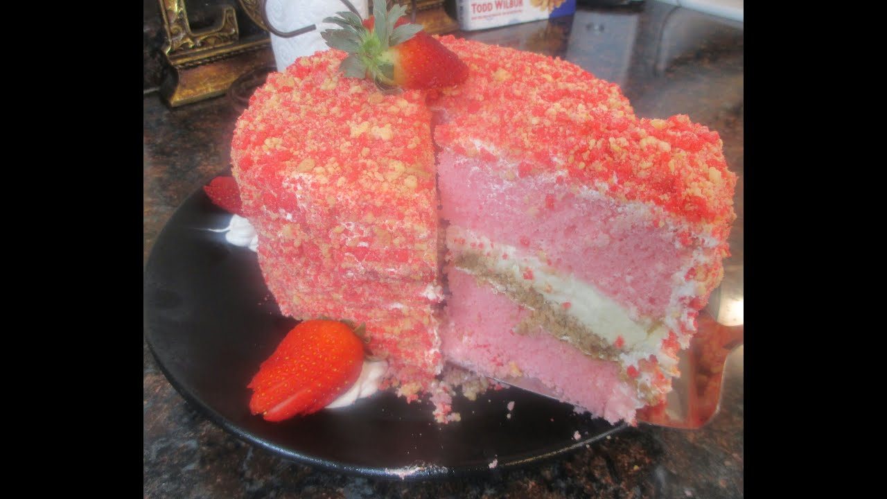 Strawberry Shortcake Cheesecake Cake Best Cake Ever Youtube