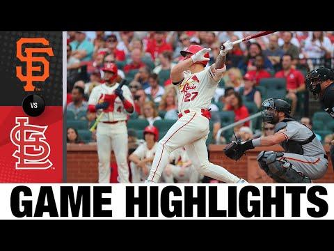 Giants vs. Cardinals Game Highlights (7/17/21)   MLB Highlights