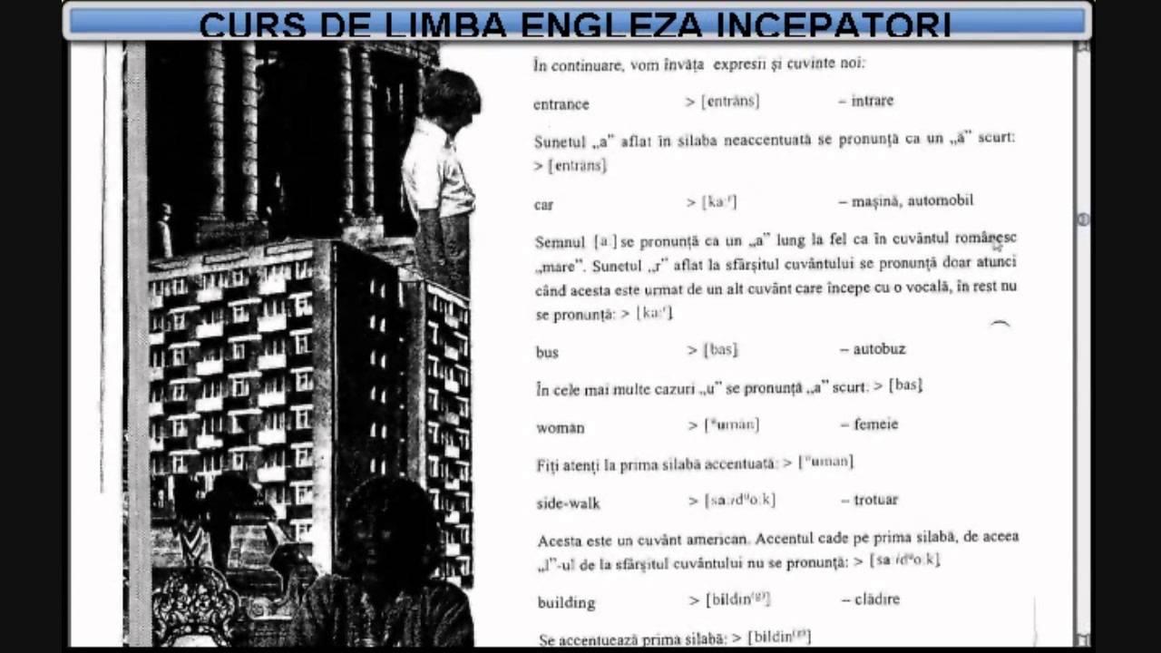 Curs de limba Engleza incepatori (tema+vocabular) - Lectia 1