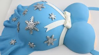 Pregnant Belly CAKE ❄ BABY it