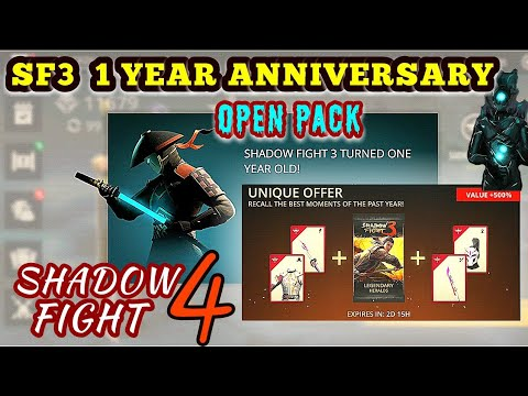 Shadow Fight 3》 chapter 7 | shadow fight 4 | anniversary pack opening | story continues
