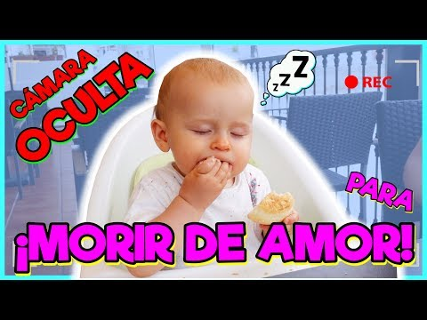 ¡La CÁMARA OCULTA más TIERNA! 🤣SE QUEDA DORMIDO MIENTRAS COME ❤️| Familia Carameluchi 👨👩👧👦