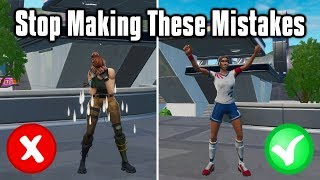 These Mistakes Are Holding You Back In Fortnite! - Why You're Not Getting Better!