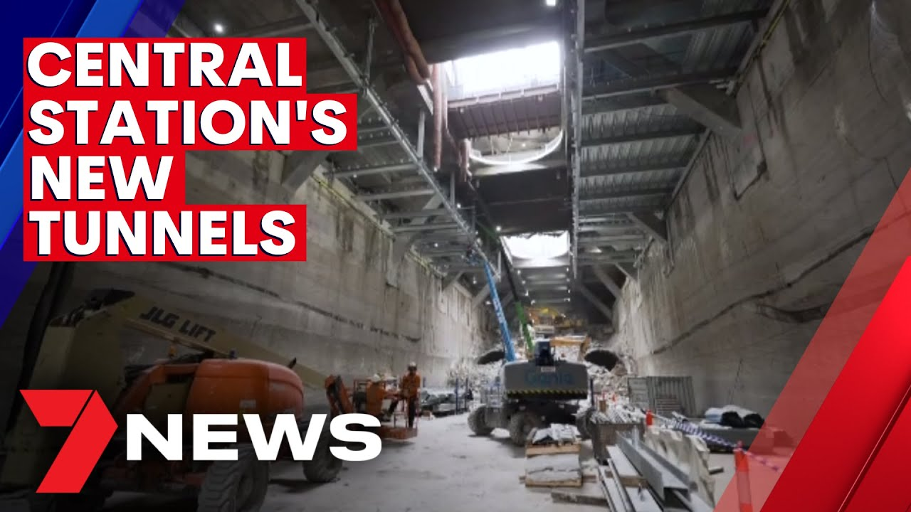 Sydney Metro twin tunnels have been smashed at Central Station | 7NEWS