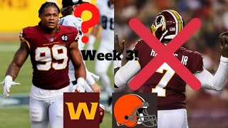 Washington Football Lose To The Browns! Dwayne Haskins Was Awful! Chase Young Injury Update!