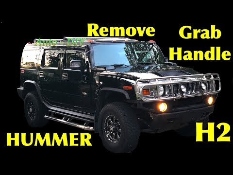 How To Remove Grab Handle on HUMMER H2 | Replace HUMMER Grab Handle Driver Side & Passenger Side