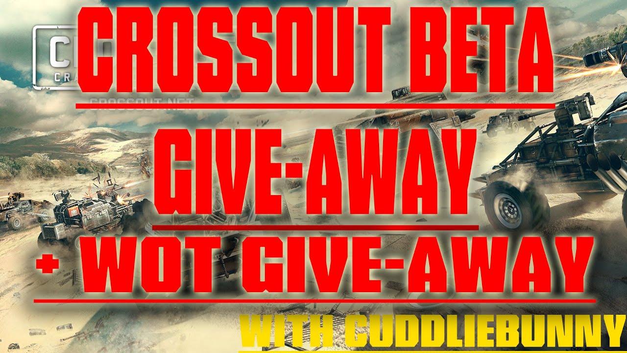 Crossout Beta codes Give-away + WOT bonus codes