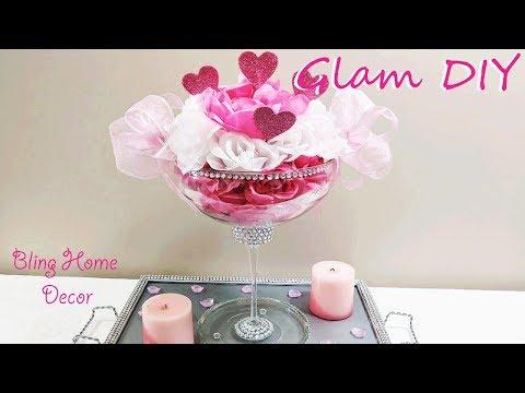 Dollar Tree DIY Glam Valentine's Day Centerpiece