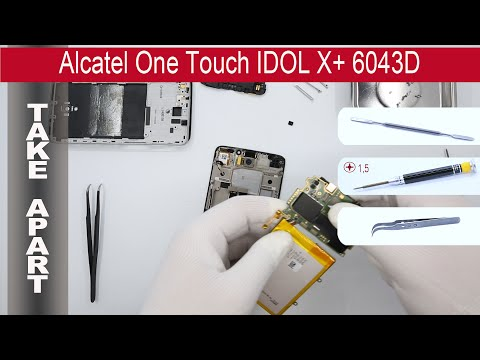 How to disassemble 📱 Alcatel One Touch IDOL X+ 6043D, Take Apart, Tutorial