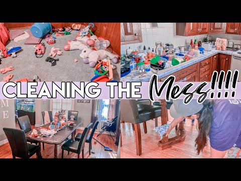 MESSY HOUSE TRANSFORMATION | COMPLETE DISASTER CLEANING | ALL DAY CLEANING MOTIVATION